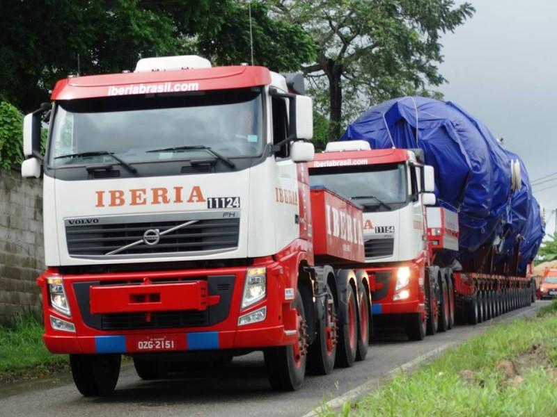 Operação da Iberia Transporte e Guindastes
